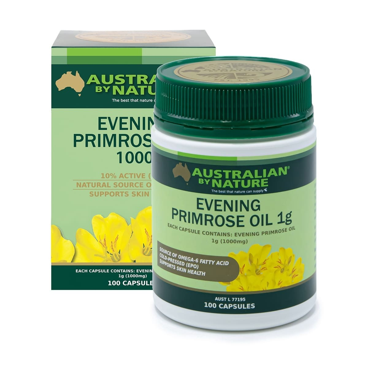 羊胎素价格_Australian by Nature Evening Primrose Oil 1000 100 Capsules   Natonic