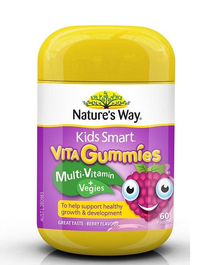 Nature's Way 佳思敏儿童复合维生素+蔬菜软糖 60粒 2岁