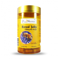 Fine Nutrition-Royal Jelly 1600mg 6% 10-HDA 365 Capsules