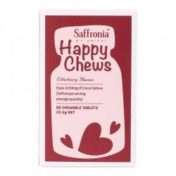 Unichi-Saffronia Happy Chews Elderberry Flavour 60 Chewable Tablets