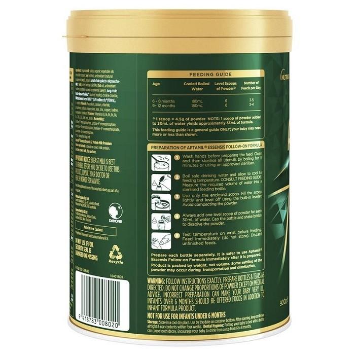 Aptamil Essensis Organic A2 Protein Milk Stage 3 900g Natonic