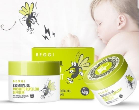Beggi Essential Oil Mosquito Repellent Diffuser 40g Natonic