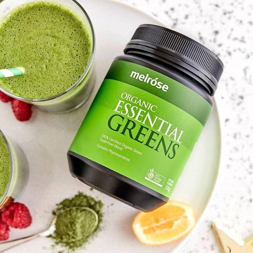 Melrose Organic Essential Greens Powder 200g Natonic