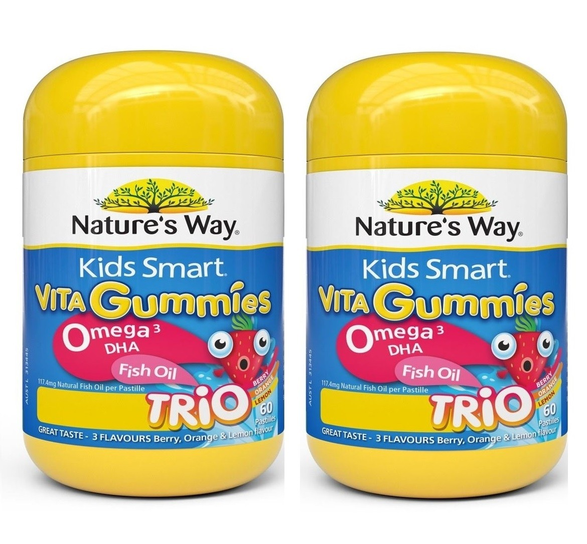 Nature's Way- Kids Smart Vita Gummies Omega 3 Fish Oil Twin Pack 60 Pastilles