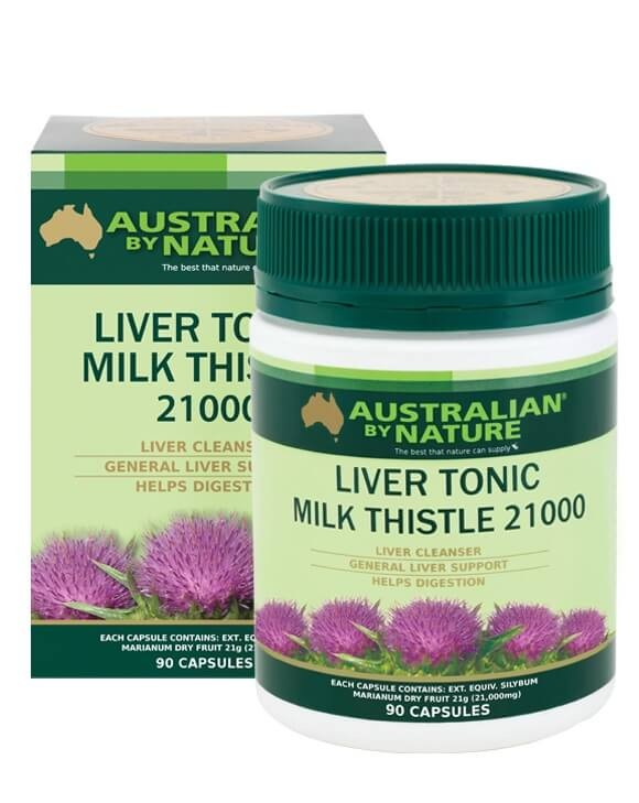 Australian by Nature-Liver Tonic Milk Thistle 21000mg 90 Capsules