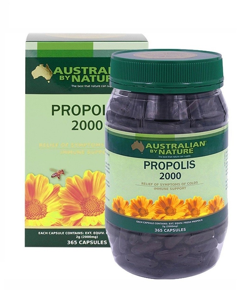 Australian by Nature-Propolis Capsules 2000mg 360 Soft Gel Capsules