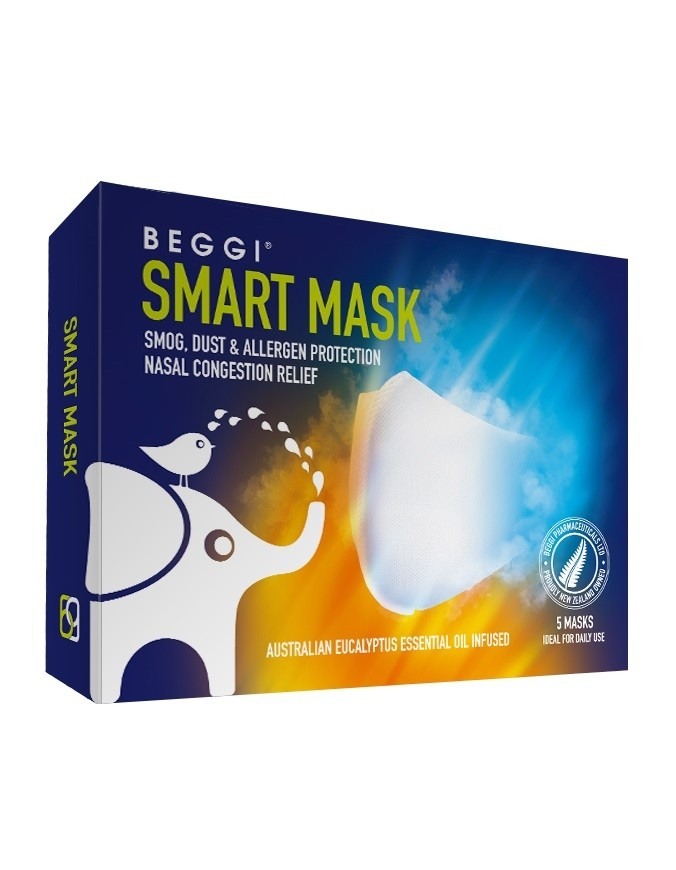 Beggi-Smart Mask 5 Pack (White)