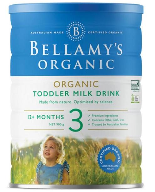Bellamy-Step 3 Organic Toddler Milk Drink 900g