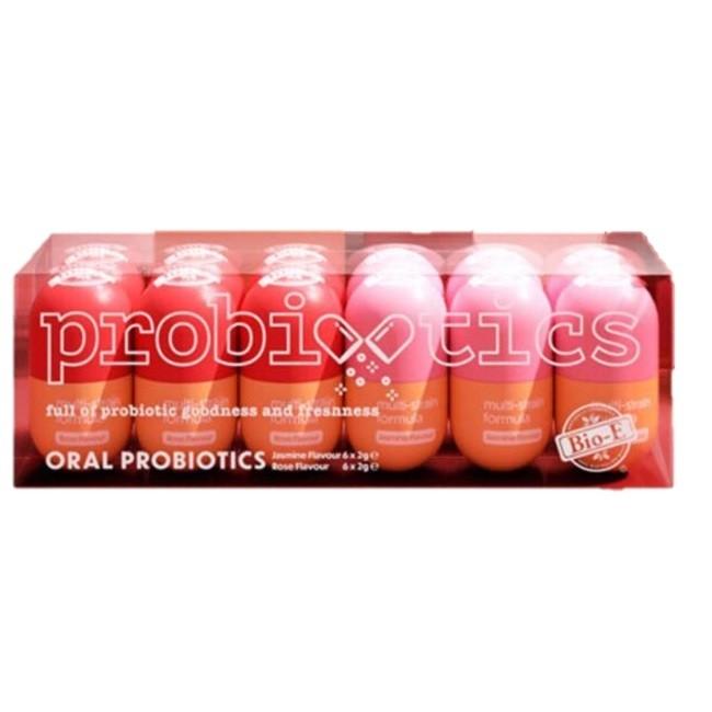 Bio E-Oral Probiotics Jasmine & Rose Flavours 12 x 2g