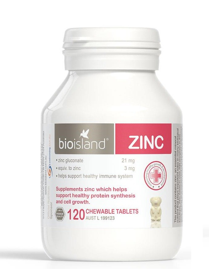 Bio Island-Zinc 120 Chewable Tablets