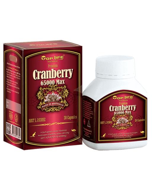 Toplife-Cranberry 65000 Max 30 Capsules