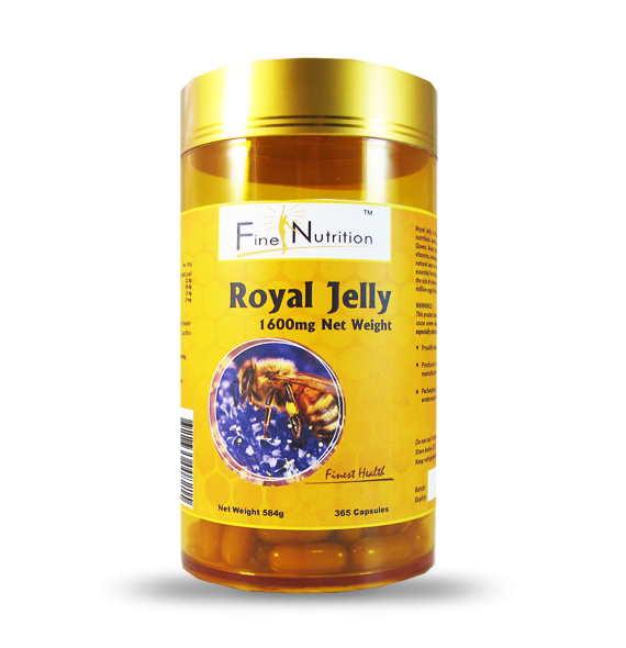 Fine Nutrition-Royal Jelly 1600mg 6% 10-HDA 365 Capsules