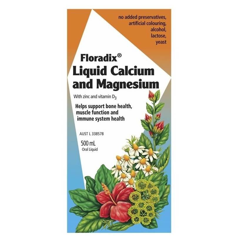 Floradix-Calcium Magnesium with Zinc and Vitamin D 500ml