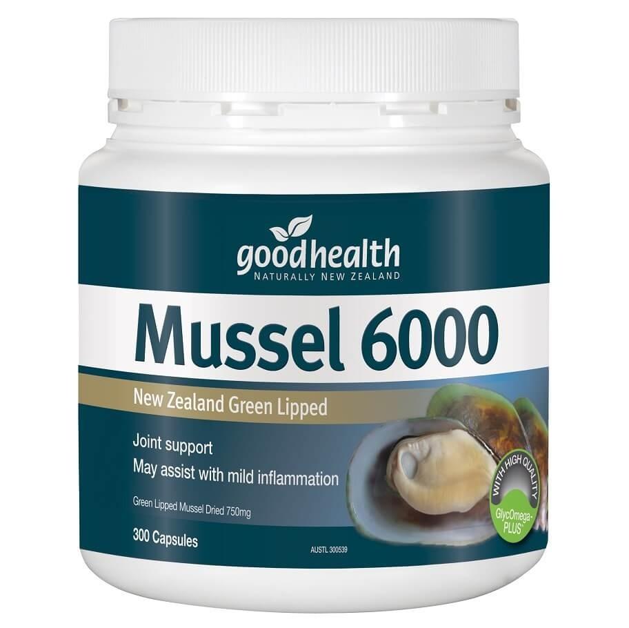 Goodhealth-Green Lipped Mussel 6000mg 300 Capsules