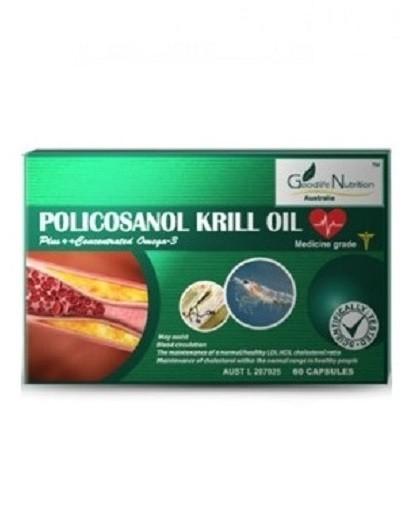 Goodlife Nutrition-Policosanol Krill Oil 60 Capsules