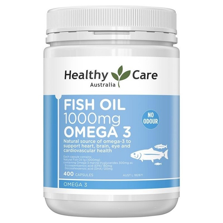 Healthy Care-Fish Oil 1000mg Omega 3 Odourless 400 Capsules