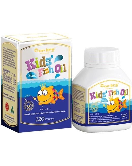 Toplife-Kids' Fish Oil 750mg 120 Capsules