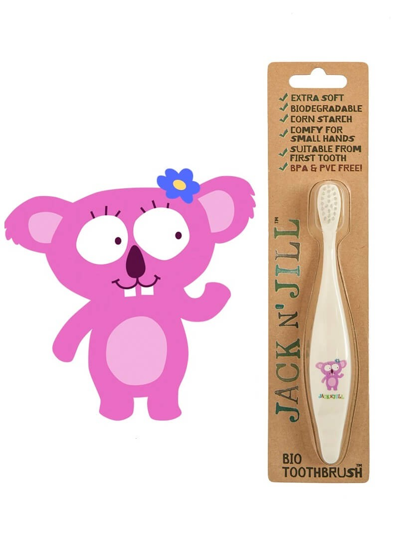 Jack N Jill Bio Toothbrush Koala Natonic Toothpaste 50g Strawberry