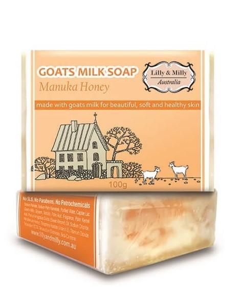 Lilly & Milly-Goats Milk Soap With Manuka Honey 100g