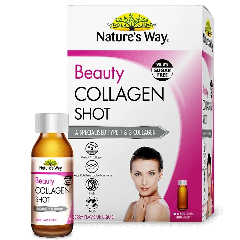 Nature's Way-Beauty Collagen Shot Berry Flavoured Liquid 10 x 50ml