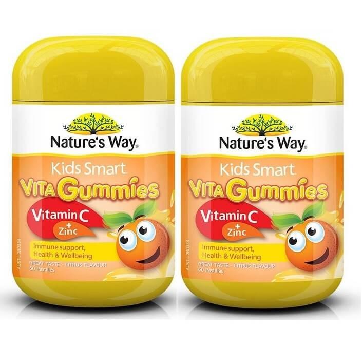 Nature's Way- Kids Smart Vita Gummies Vitamin C + Zinc 60 Pastilles 2x TWIN PACK