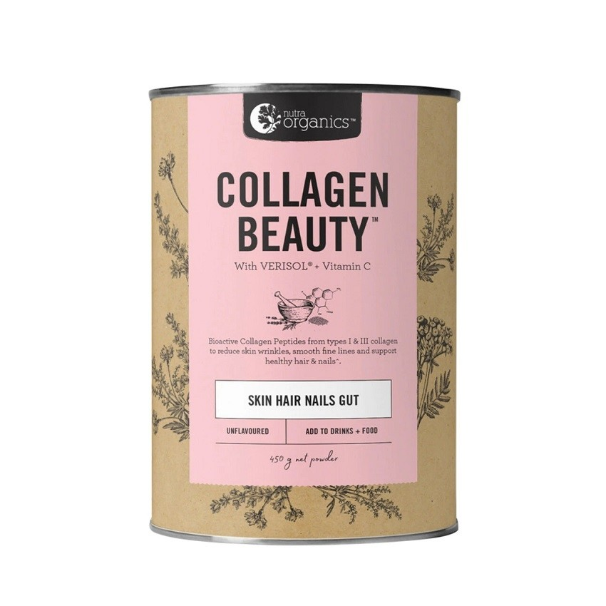 Nutra Organics-Collagen Beauty with Verisol + Vitamin C Unflavoured 450g