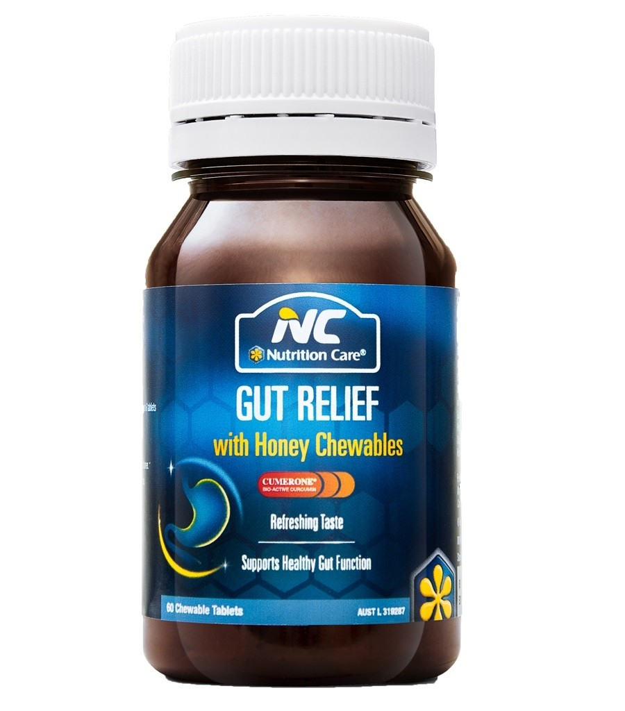 Nutrition Care-Gut Relief with Honey Chewable 60 Tablets
