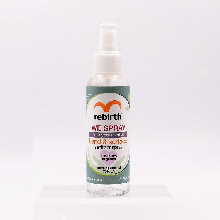 Rebirth-Eucalyptus Herbal Hand & Surface Sanitizer Spray 125ml