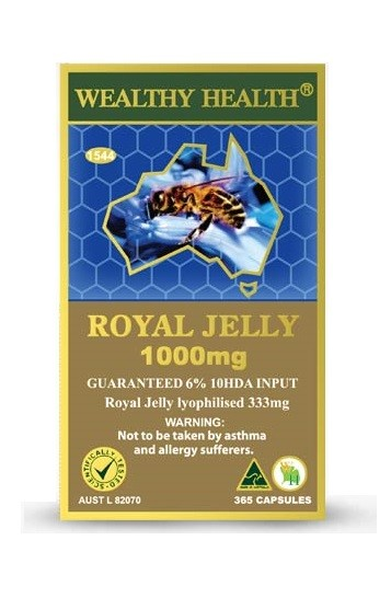 Wealthy Health Royal Jelly 1000mg 6% 365 Capsules