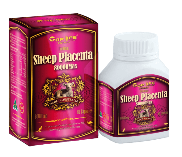 Toplife-Sheep Placenta 80000 Max 60 Capsules
