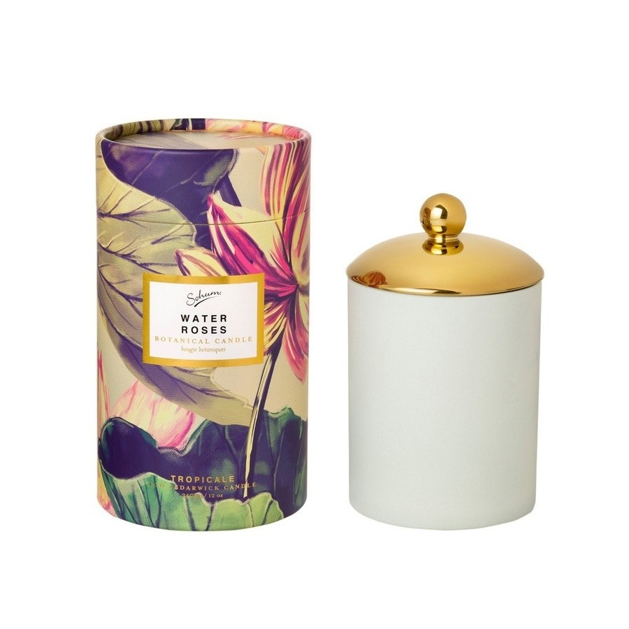 Sohum-Water Roses Eco Candle 340gm