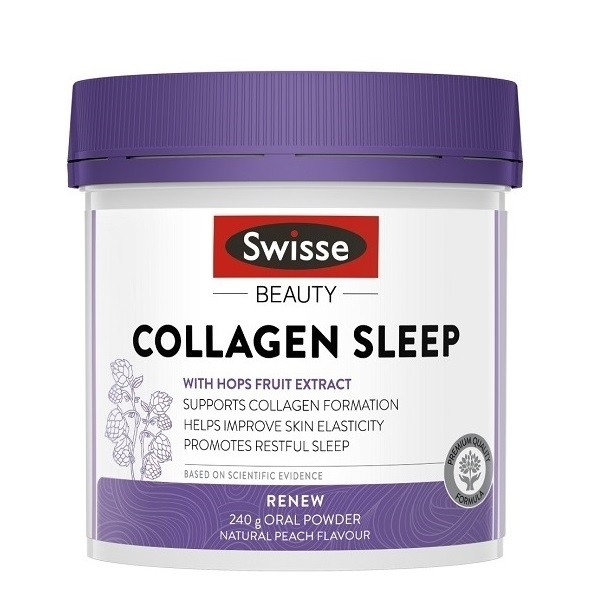Swisse-Beauty Collagen Sleep Natural Peach Flavour 240g