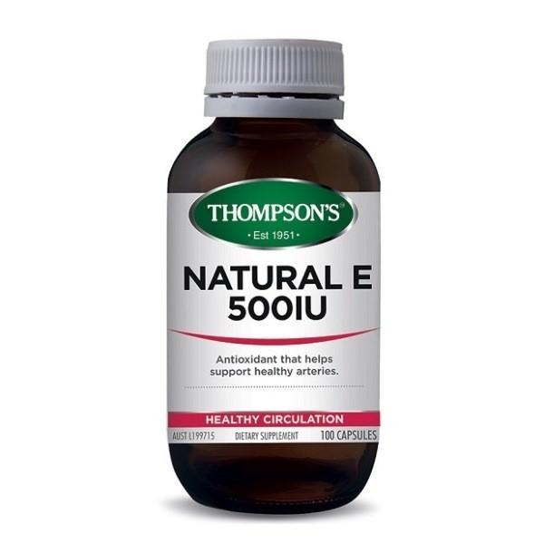 Thompson's-Natural E 500iu 100 Capsules