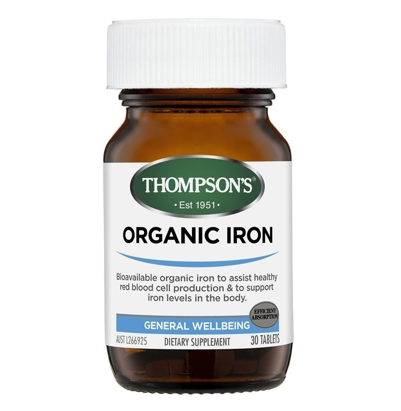 Thompson's-Organic Iron 24mg 30 Capsules