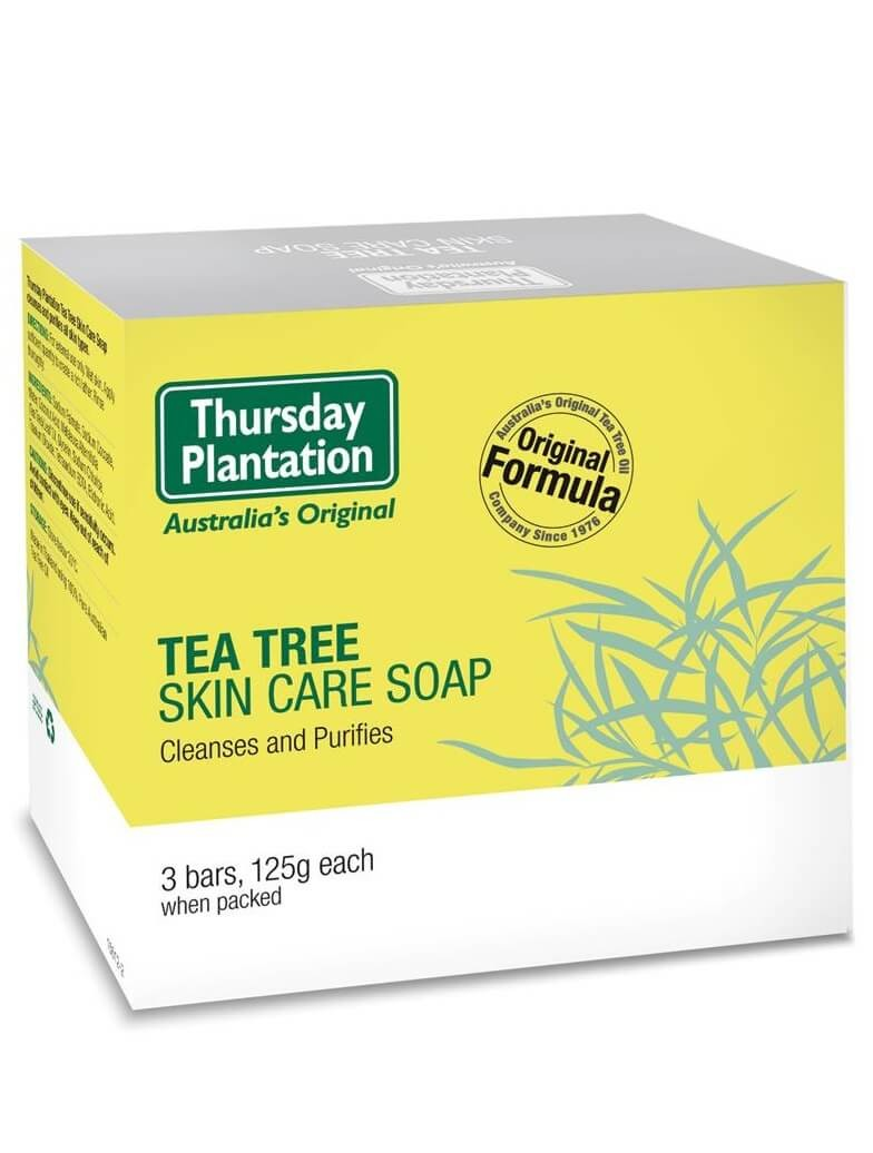 Thursday Plantation-Tea Tree Skin Care Soap 3 Bars, 125g Each