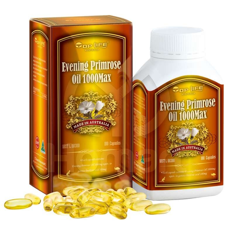 Toplife-Evening Primrose Oil 1000mg Max 180 Capsules