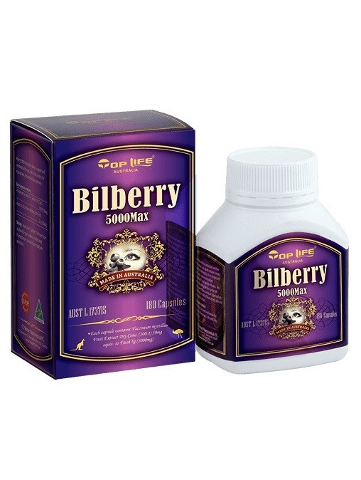 Toplife-Bilberry 5000mg 180 Capsules