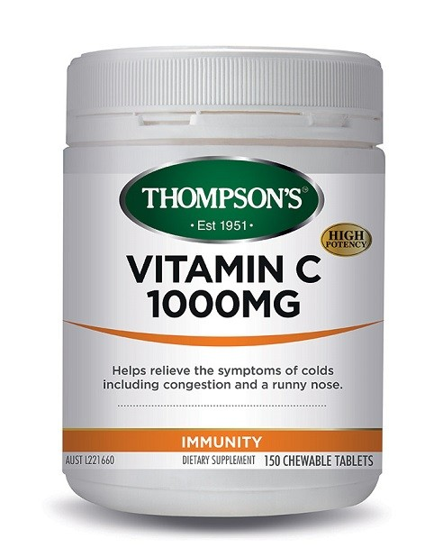 Thompson's-Vitamin C Chewables 1000mg 150 Chewable Tablets