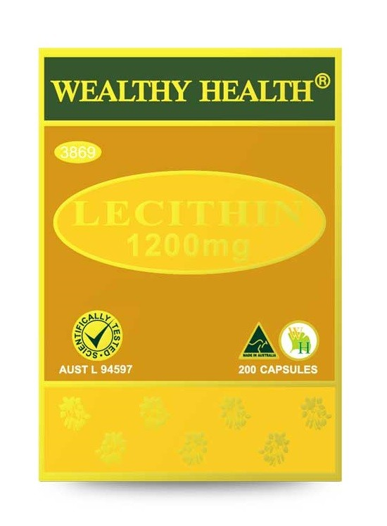 Wealthy Health Lecithin 1200mg 200 Capsules