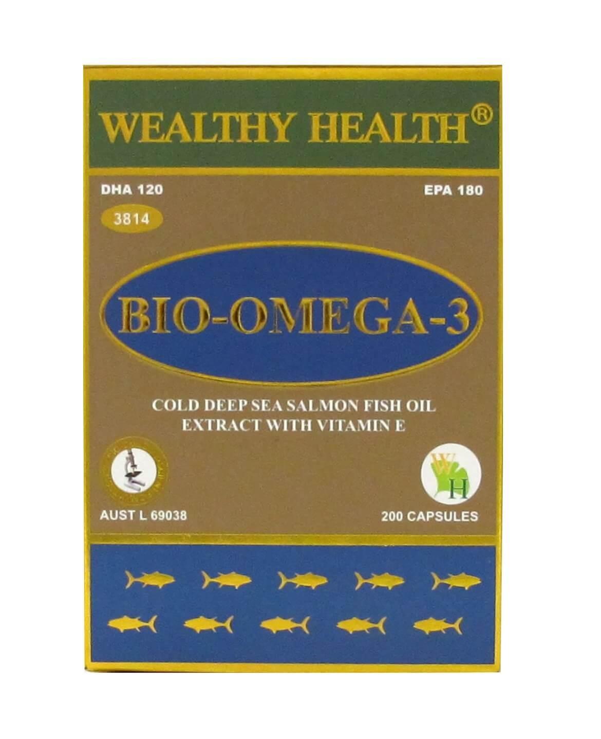 Wealthy Health - Bio Omega 3 200 Capsules