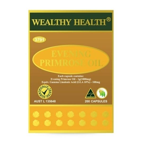 Wealthy Health - Evening Primrose Oil 200 Capsules