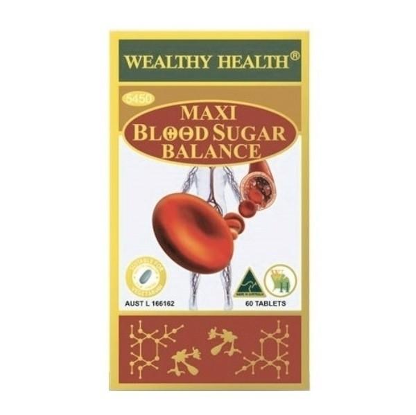 Wealthy Health - Maxi Blood Sugar Balance 60 Tablets