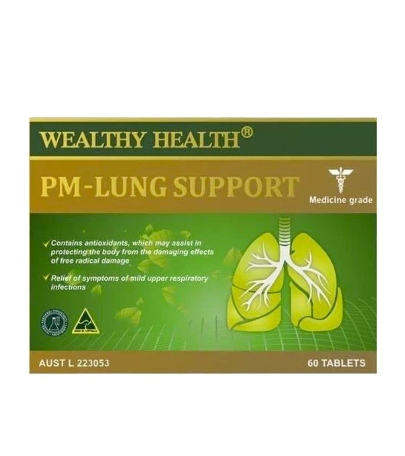 Wealthy Health - PM Lung Support 60 Tablets