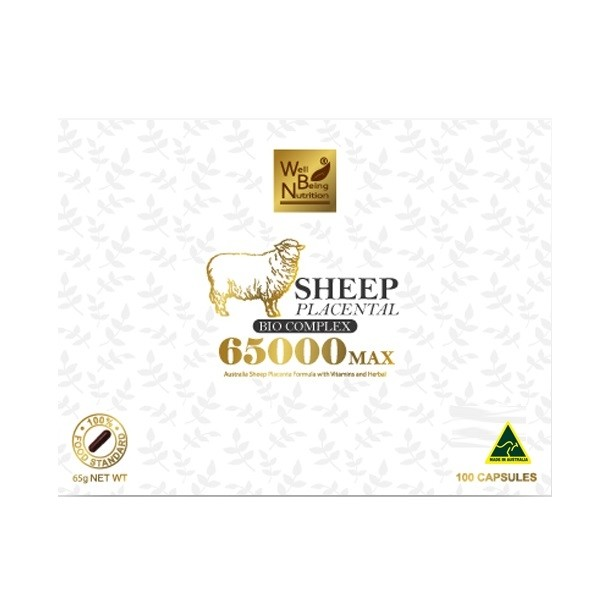Well Being Nutrition-Sheep Placental Bio Complex 65000 Max 100 Capsules