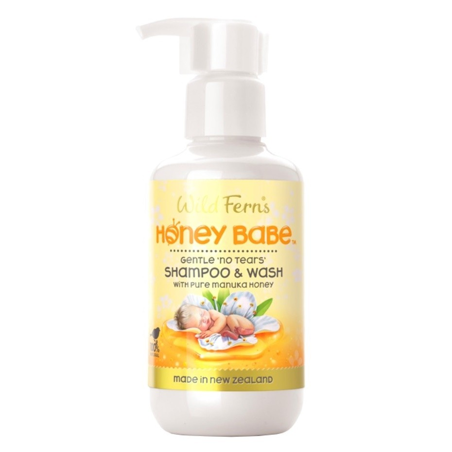 Wild Ferns-Honey Babe Shampoo & Wash with Manuka Honey 140ml