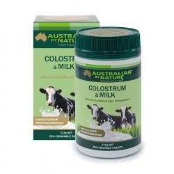 Australian by Nature-Colostrum & Milk 250 Chewable Tablets