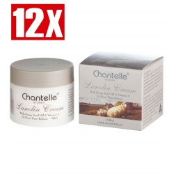 Chantelle Sydney-Lanolin Cream with Grape Seed Oil & Vitamin E 12 x 100ml Pack
