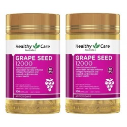 Healthy Care-Grape Seed Extract 12000mg 300 Capsules x2 TWIN PACK