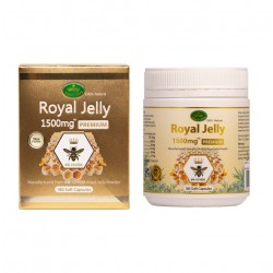 Nature's King-Royal Jelly 1500mg 6% 10-HDA 180 Capsules