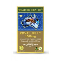 Wealthy Health - Royal Jelly 1000mg 6% 365 Capsules